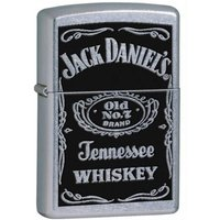 Zippo Jack Daniel's Label Street Chrome Windproof Lighter