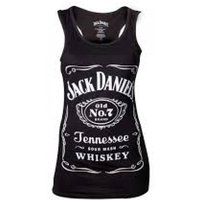 Jack Daniels Woman's Old No.7 Brand Logo Small Black Tank Top