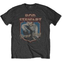 Rod Stewart - Forever Crest Men's Small T-Shirt - Charcoal Grey