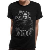 Lord Of The Rings - Walk Into Mordor Men's Large T-Shirt - Black