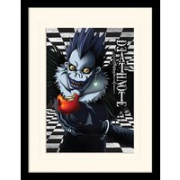 Death Note - Ryuk Checkered Mounted & Framed 30 x 40cm Print