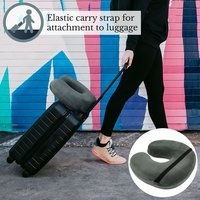 Savisto Memory Foam Travel Pillow - Grey