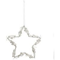 Large Wire/Bead Star Hanger