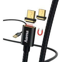 Hama Magnetic Charging/Data Cable, Micro-USB, 1 m, black