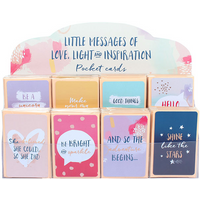 Set of 96 Little Messages Of Inspiration Pocket Cards And Display