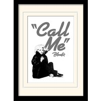 Blondie - Call Me Mounted & Framed 30 x 40cm Print