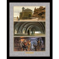 Star Wars - Arrival at Jabba's Palace Framed 30 x 40cm Print