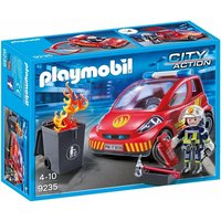 Playmobil Firefighter with Car