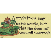 A Man's Home Is His Castle Pack Of 12