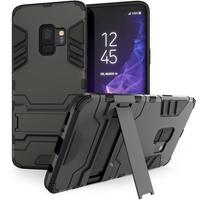 Caseflex Samsung Galaxy S9 Armour Kickstand - Steel Black