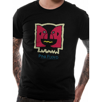 Pink Floyd - Double Image Men's Small T-Shirt - Black