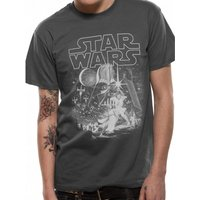 Star Wars - Classic New Hope Men's X-Large T-Shirt - Grey