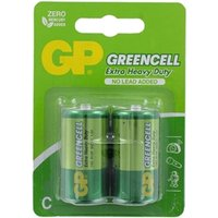 GP Greencell Zinc Pack of 2 C Batteries