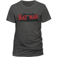 Batman - Authentic Logo Men's Small T-Shirt - Grey