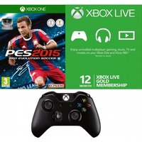 Pro Evolution Soccer PES 2015 Bundle with 12 Month Live & Wireless Controller Xbox One