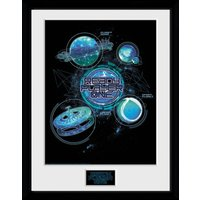 Ready Player One Planets Framed Collector Print