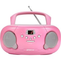 Groov-e GVPS733PK Original Boombox Portable CD Player with Radio Pink UK Plug