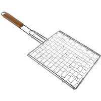 Xavax Grilling Basket, coated, with wooden handle, 25 x 25 cm