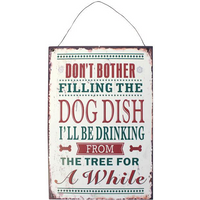 Dog Dish Xmas Sign