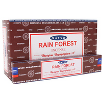 Box of 12 Packs of Rainforest Incense Sticks by Satya