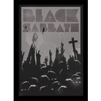 Black Sabbath - Cross Framed 30 x 40cm Print
