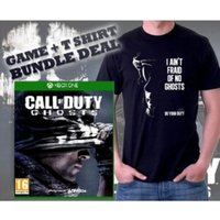 Call Of Duty Ghosts Game & Do Your Duty Black T-Shirt Medium Xbox One