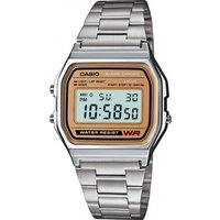 Casio Men's Digital Watch Silver with Gold Face