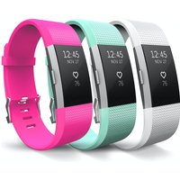 Yousave Hot Pink/Mint Green/White Activity Tracker Strap - Small (3 Pack)