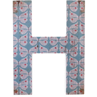 Letter H Wall Plaque