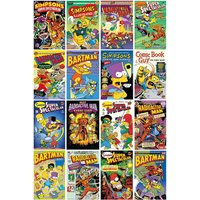 The Simpsons Comic Covers Maxi Poster