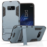 Samsung Galaxy S8 Armour Kickstand Case - Blue