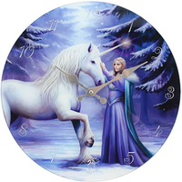 Pure Magic Glass Wall Clock By Anne Stokes