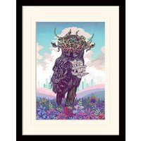 Mat Miller - Journeying Spirit - Owl Mounted & Framed 30 x 40cm Print
