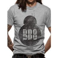 Star Wars 8 - BB8 Silhouette Men's Medium T-Shirt - Grey
