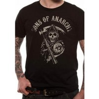Sons Of Anarchy Main Logo T-Shirt XX-Large - Black