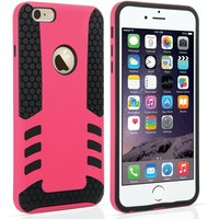 YouSave Accessories iPhone 6 Plus / 6s Plus Border Combo Case - Hot Pink