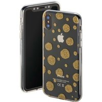 Hama Golden Circles Cover for Apple iPhone X, transparent/gold