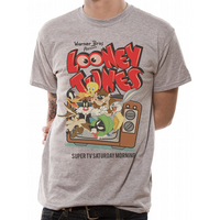 Looney Tunes - Retro TV Men's X-Large T-Shirt - Grey