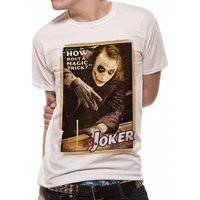 Batman The Dark Knight - Magic Trick Unisex White T-Shirt Small