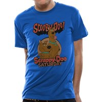 Scooby Doo - Scooby And Scrappy Men's Large T-Shirt - Blue