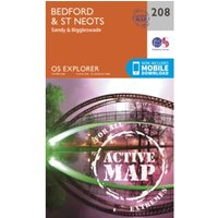 Bedford and St.Neots, Sandy and Biggleswade by Ordnance Survey (Sheet map, folded, 2015)