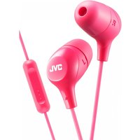 JVC HAFX38MP Marshmallow Custom Fit In-Ear Headphones with Remote & Mic Pink