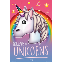 Emoji  Believe In Unicorns Maxi Poster