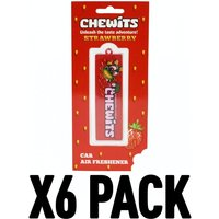 Strawberry (Pack Of 6) Chewits 3D Hanging Air Freshener