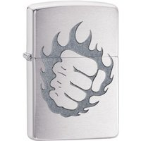 Zippo Flaming Fist Classic Brushed Chrome