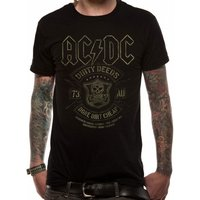 AC/DC Black Done Cheap T-Shirt Medium