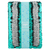 Green and Silver Reversible Sequin Notebook