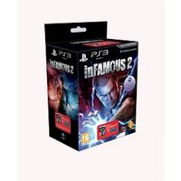 inFamous 2 Game Good Pack with Transparent Blue Dualshock 3 Controller