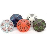 Chessex Polyhedral D10 Dice Bag of 50 Assorted: Speckled