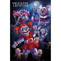 Five Nights at Freddys Sister Location Group Maxi Poster